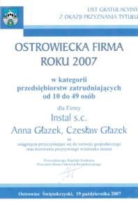 Ostrowiecka firma roku 2007